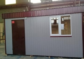 Дверь и окно поста охраны