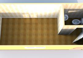 Схема блок-контейнера с санузлом
