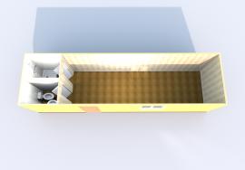 Блок-контейнер с санузлом схема