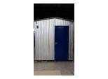 Вагон-бытовка металлическая дверь